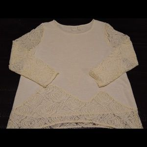 Chico's Knit Lace Pullover Sweater